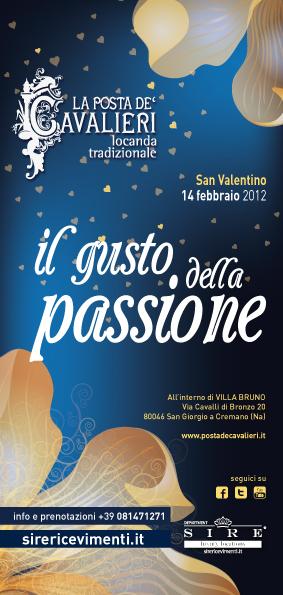 """San Valentino all'ombra del Vesuvio da """"La Posta De' Cavalieri"""""""